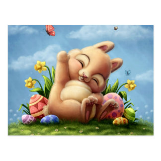 Un petit lapin de Pâques Cartes Postales