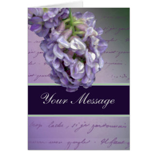 Un petit lilas carte de vœux