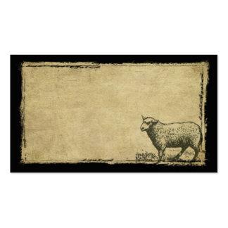 Un petit mouton solitaire Prim des cartes de Carte De Visite Standard