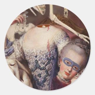 Un portrait pour l'Halloween Classic Round Sticker