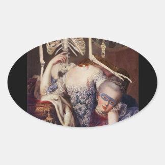Un portrait pour l'Halloween Oval Sticker