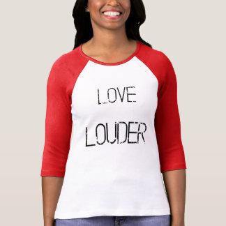 Un raglan grunge plus bruyant d'amour t-shirt