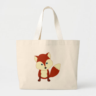 Un renard rouge mignon sac de toile
