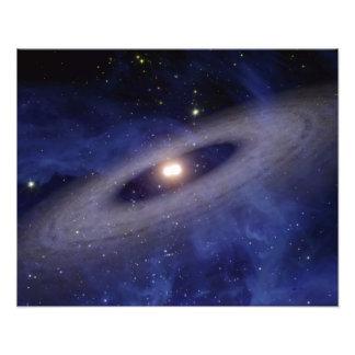 Un système solaire lointain photographie
