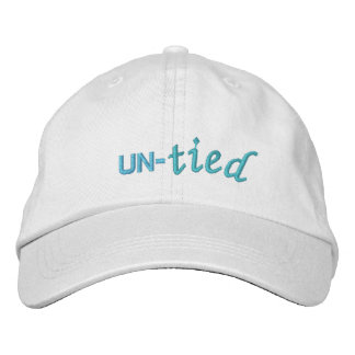 """""""Un-tied"""" Basic Adjustable Hat Embroidered Baseball Caps"""