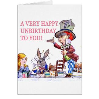 Un Unbirthday très heureux à vous ! Carte De Vœux