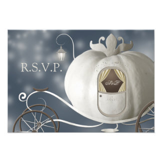 Un véritable conte de fées épousant RSVP Invitation