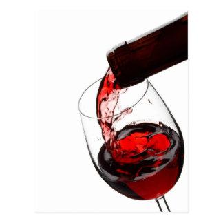 Un verre de vin rouge cartes postales