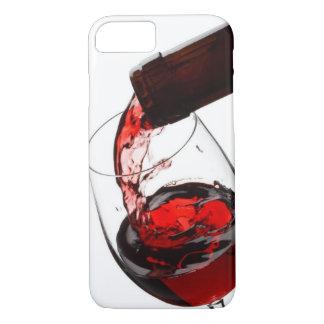 Un verre de vin rouge coque iPhone 7