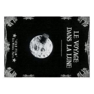 Un voyage cinéma français vintage de lune au rétro modèle de carte de visite