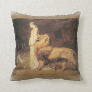 Una and the Lion by Briton Riviere Throw Pillow