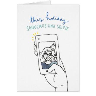 Una Selfie for Janukah Card