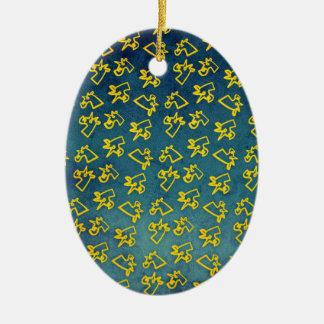 Unacorni and Cheese Ceramic Ornament