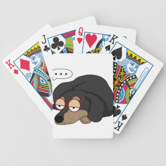 Unamused Dachshund Bicycle Playing Cards