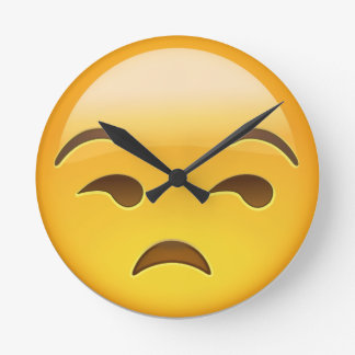 Unamused Face Emoji Wall Clocks