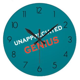 Unappreciated Genius Large Clock