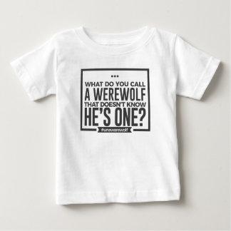 Unaware Silly Stupid Werewolf Halloween Design Baby T-Shirt