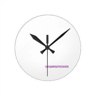 Unawareness.  60's edition. round clock