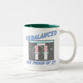 Unbalanced and Proud of it! Two-Tone Coffee Mug