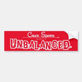 Unbalanced White Logo Red Sticker Bumper Sticker