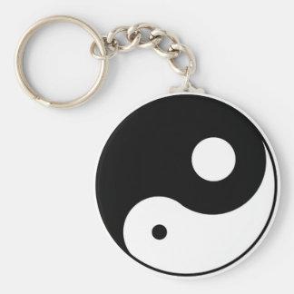 unbalanced yin yang symbol keychain