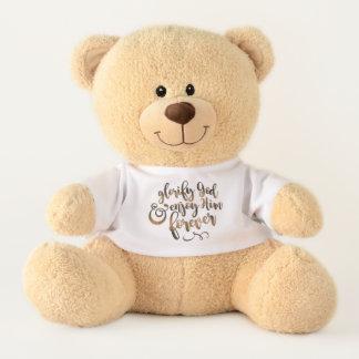 """UnBEARably Cute """"Glorify/Enjoy God"""" Teddy (Medium) Teddy Bear"""