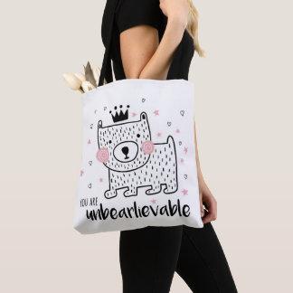 Unbearlievable bear tote bag
