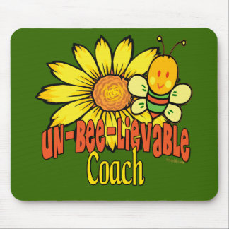 Unbelievable Coach with Sunflowers and Bumblebees Mouse Pad