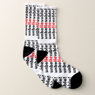 Unbelievable Lie Red Black Political Mens Socks