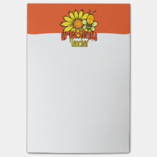 Unbelievable Teacher with Sunflowers and Bumblebee Post-it® Notes