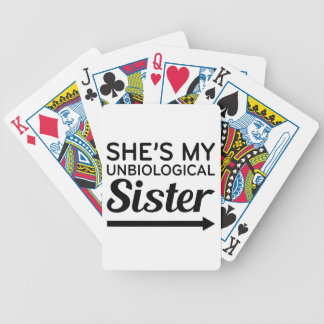 Unbiological Sister 1 Bicycle Playing Cards