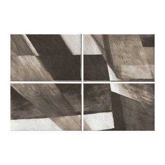 Unblocked Quad Digital Painting in Sepia Canvas Print