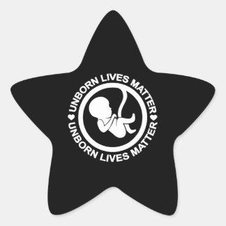 Unborn Lives Matter Star Sticker