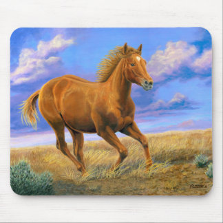 """Unbridled Freedom"" Quarter Horse - Mouse Pad"