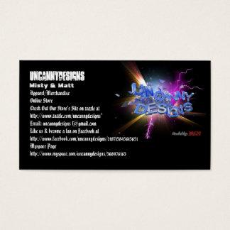 Uncanny Designs Original Business Card