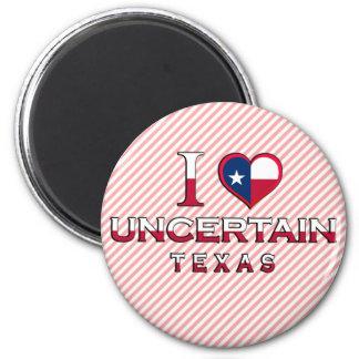 Uncertain, Texas 2 Inch Round Magnet