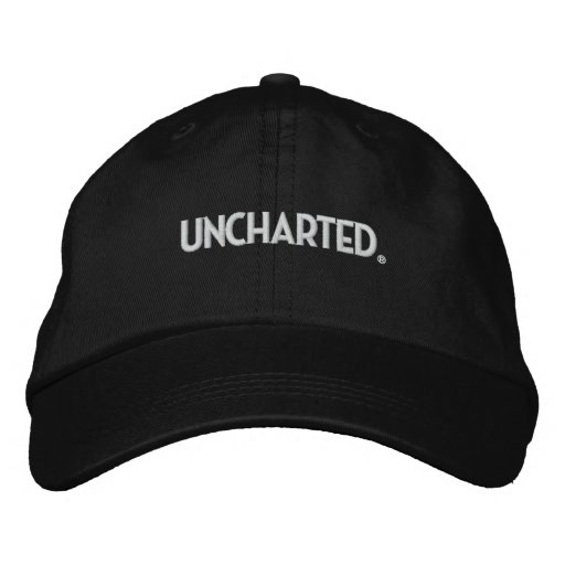 Uncharted Hat - Black Embroidered Baseball Cap