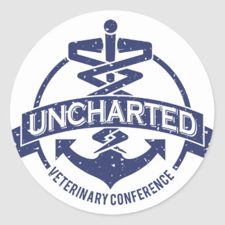 Uncharted Veterinary Conference Classic Round Sticker