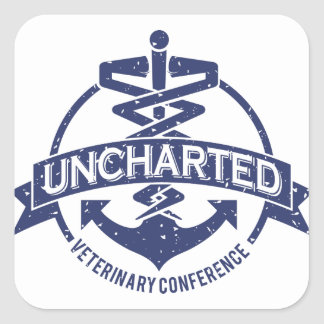 Uncharted Veterinary Conference Square Sticker