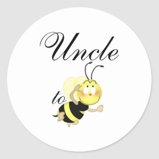 Uncle 2 be classic round sticker