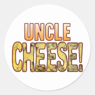 Uncle Blue Cheese Round Sticker