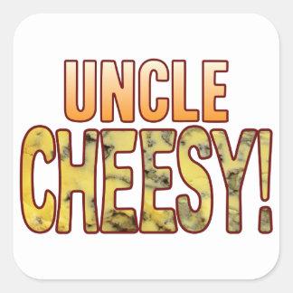 Uncle Blue Cheesy Square Sticker