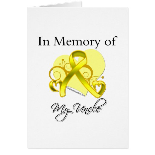 Uncle - In Memory of Military Tribute Greeting Cards