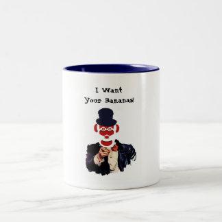 Uncle Monkey Two-Tone Coffee Mug