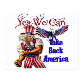 Uncle Obama, Yes We Can Take Back America Postcard