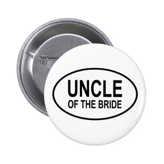 Uncle of the Bride Wedding Oval 2 Inch Round Button