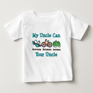 Uncle Outswim Outbike Outrun Triathlon Infant Tee