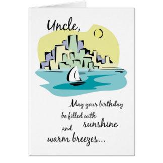 Uncle Sailboat City Birthday Card
