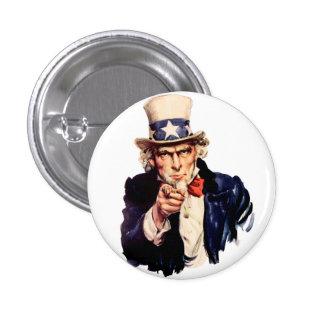 Uncle Sam 1 Inch Round Button