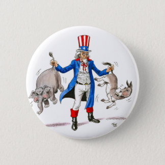 Uncle Sam 3 2 Inch Round Button